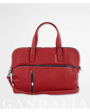 Foto maletín, portadocumentos Caminatta rojo de frente.